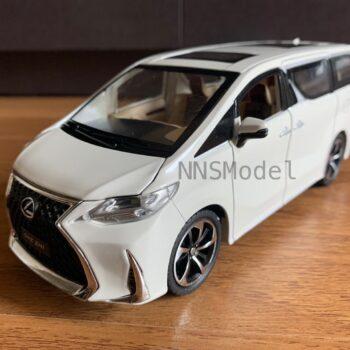 โมเดลรถตู้ LEXUS LM300H รถเหล็กจำลอง มีเสียงมีไฟ (Scale 1:24) สีขาวมุก