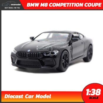 โมเดลรถ BMW M8 Competition Coupe สีดำ (Scale 1:38) รถเหล็กจำลอง