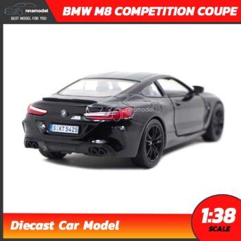 โมเดลรถ BMW M8 Competition Coupe สีดำ (Scale 1:38) รถเหล็กจำลอง มีลานวิ่งได้ Pull-Back