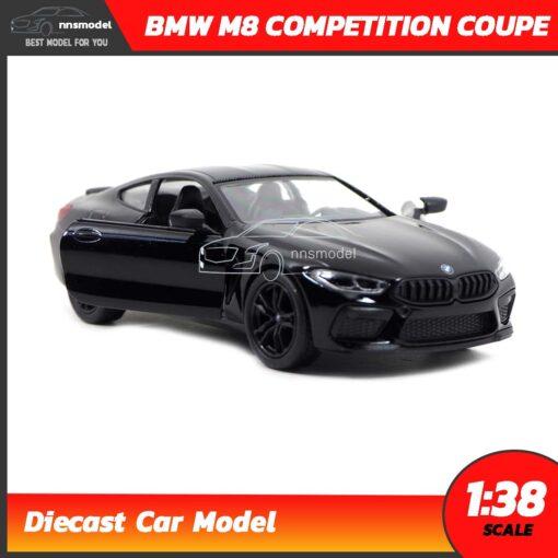 โมเดลรถ BMW M8 Competition Coupe สีดำ (Scale 1:38) รถเหล็กจำลอง เปิดประตูซ้ายขวาได้