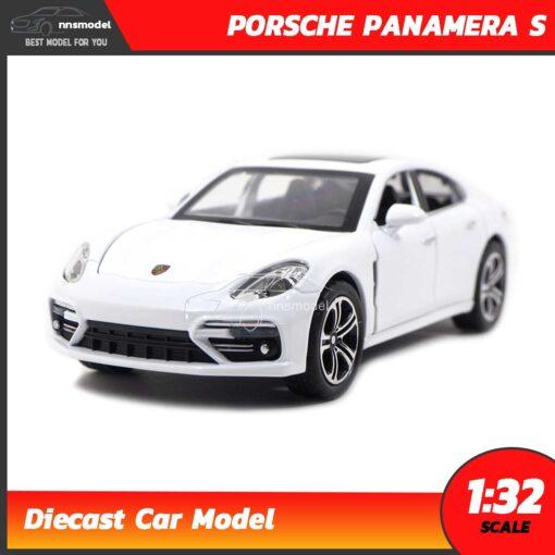 โมเดลรถ PORSCHE PANAMERA S สีขาว (Scale 1:32) รถโมเดลจำลอง มีเสียงมีไฟ