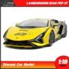 โมเดลรถ LAMBORGHINI SIAN FKP 37 สีเหลือง (Scale 1:18) โมเดลรถสะสม Bburago